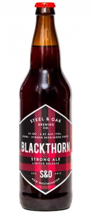 Blackthorn Strong Ale by Steel & Oak Brewing Co. in British Columbia, Canada