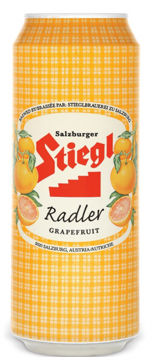 Stiegl Radler Grapefruit by Stiegl Brewing in Salzburg, Austria