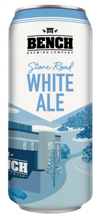 Stone Road White Ale by Bench Brewing Company in Ontario, Canada