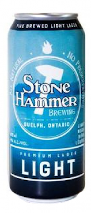 Premium Lager Light by StoneHammer Brewing in Ontario, Canada