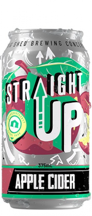 Straight Up Cider by Big Shed Brewing Co. in South Australia, Australia