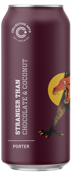 Stranger Than: Chocolate & Coconut by Collective Arts Brewing in Ontario, Canada