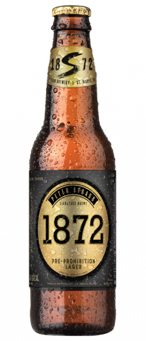 1872 Lager by Straub Brewery in Pennsylvania, United States