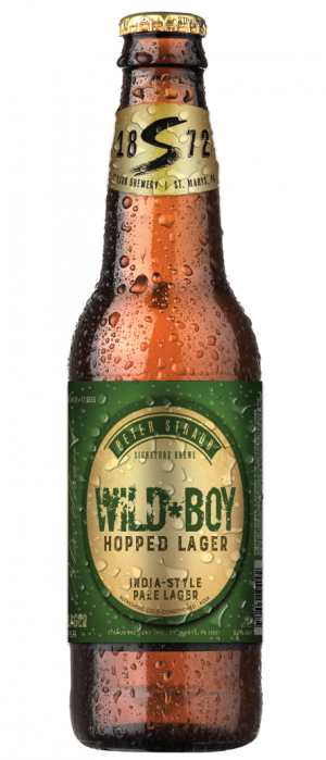 Wild*Boy Hopped Lager by Straub Brewery in Pennsylvania, United States