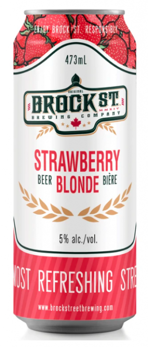 Strawberry Blonde by Brock St. Brewing Company in Ontario, Canada