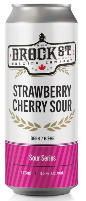 Strawberry Cherry Sour by Brock St. Brewing Company in Ontario, Canada