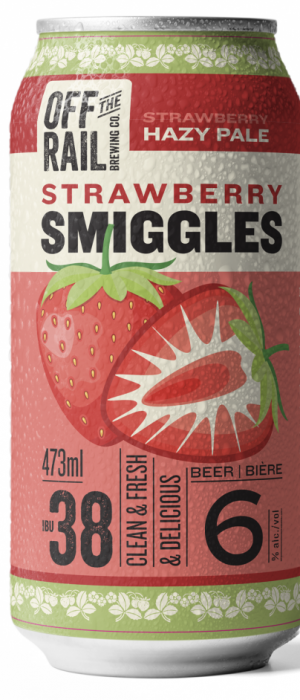 Strawberry Smiggles by Off The Rail Brewing Company in British Columbia, Canada