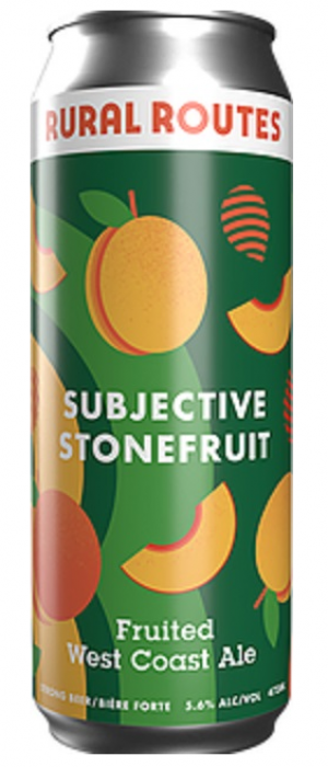 Subjective Stonefruit Fruited West Coast Ale by Rural Routes Brewing Company in Alberta, Canada