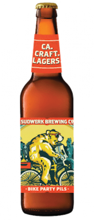 Bike Party Pils by Sudwerk Brewing Company in California, United States