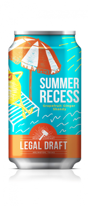 Summer Recess Grapefruit Ginger Shandy by Legal Draft Beer Co. in Texas, United States
