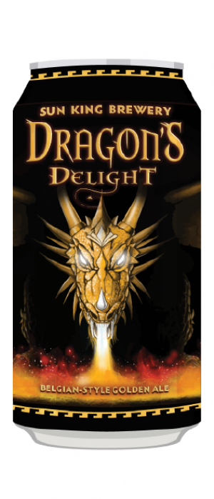 Dragon's Delight Belgian-Style Golden Ale by Sun King Brewing in Indiana, United States