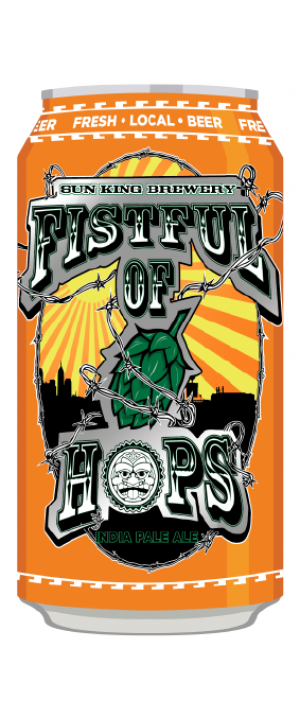 Fistful of Hops IPA by Sun King Brewing in Indiana, United States