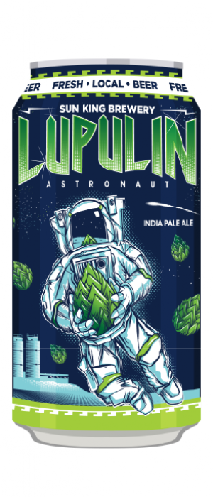 Luplin Astronaut IPA by Sun King Brewing in Indiana, United States