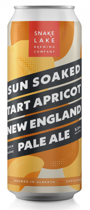 Sun Soaked Tart Apricot New England Pale Ale by Snake Lake Brewing Company in Alberta, Canada
