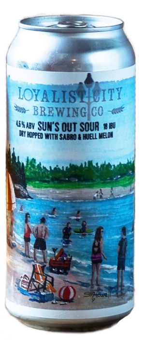 Sun's Out Sour by Loyalist City Brewing Co. in New Brunswick, Canada