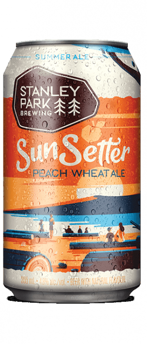 SunSetter Peach Wheat Ale by Stanley Park Brewing in British Columbia, Canada
