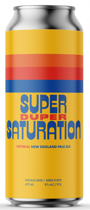 Super Duper Saturation Imperial New England Pale Ale by Cabin Brewing Company in Alberta, Canada