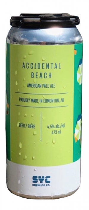 Accidental Beach by S.Y.C. Brewing Co. in Alberta, Canada