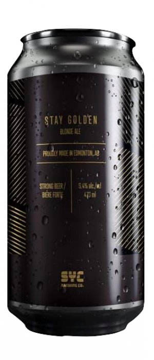 Stay Golden by S.Y.C. Brewing Co. in Alberta, Canada