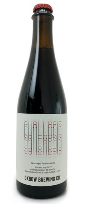 Synthesis Barrel-Aged Dark Farmhouse Ale by Oxbow Brewing Company in Maine, United States