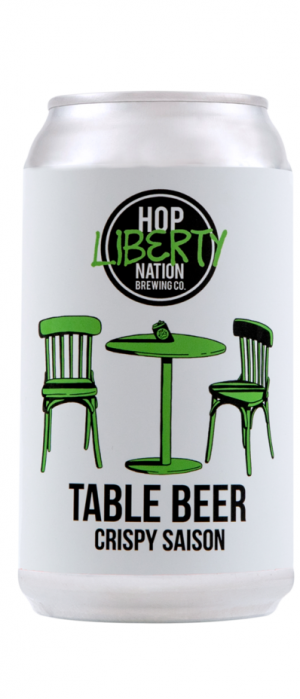 Table Beer Crispy Saison by Hop Nation Brewing Co. in Victoria, Australia