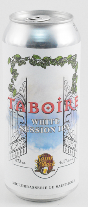 Taboire White Session IPA by Le Saint Bock in Québec, Canada