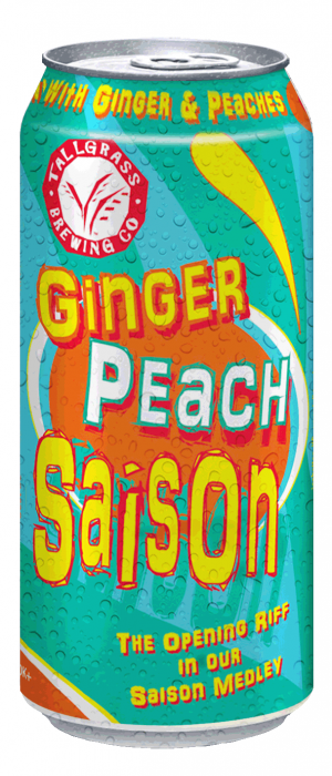 Ginger Peach Saison by Tallgrass Brewing Company in Kansas, United States