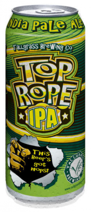 Top Rope IPA by Tallgrass Brewing Company in Kansas, United States