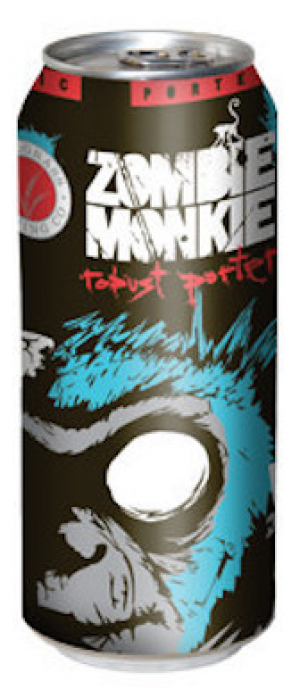 Zombie Monkie Robust Porter by Tallgrass Brewing Company in Kansas, United States