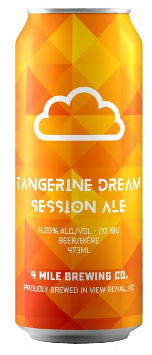 Tangerine Dream Session Ale by 4 Mile Brewing Company in British Columbia, Canada
