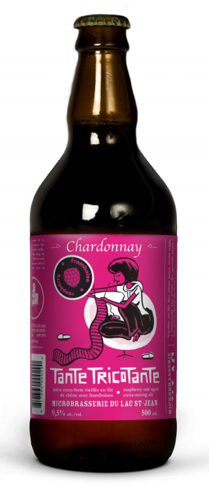 Tante Tricotante Chardonnay Framboises by Microbrasserie du Lac St. Jean in Québec, Canada
