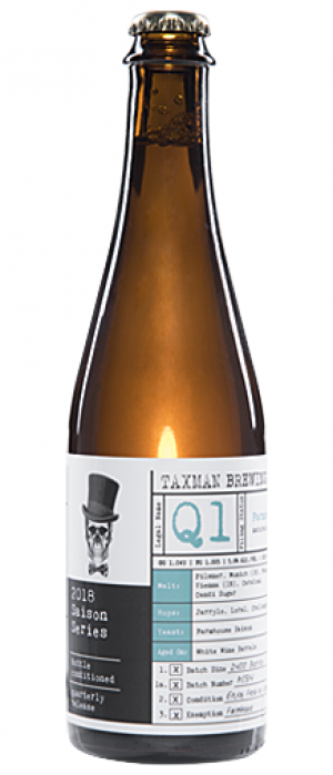 Q1 Saison by Taxman Brewing Company in Indiana, United States
