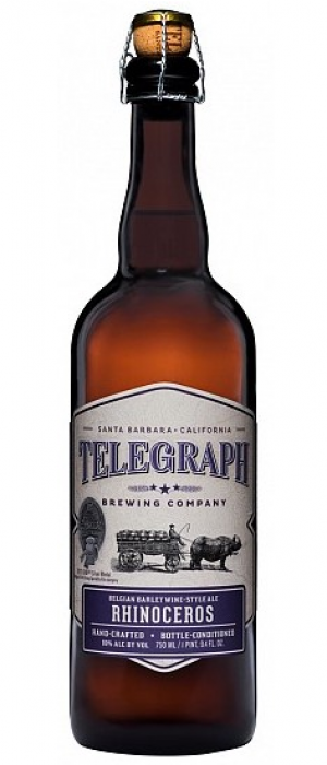 Rhinoceros Ale by Telegraph Brewing Company in California, United States