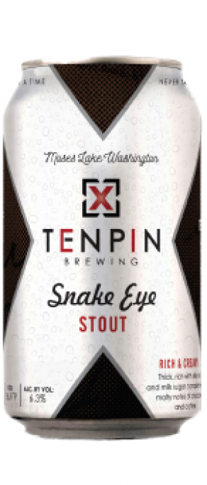 Snake Eye Stout by Ten Pin Brewing Company in Washington, United States