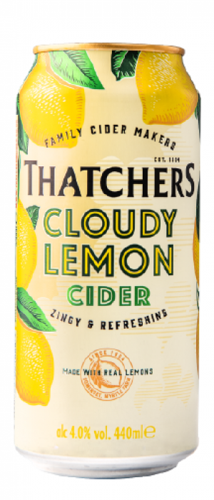Thatchers Cloudy Lemon Cider by Thatchers Cider in Somerset - England, United Kingdom
