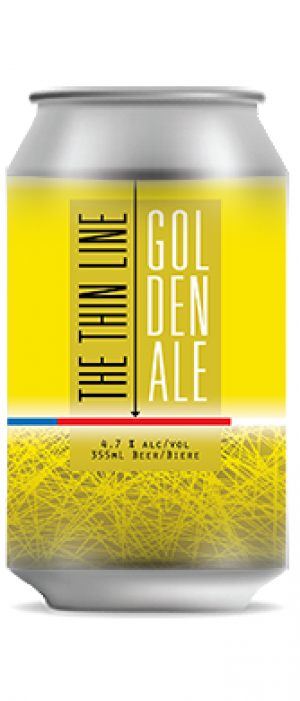 The Thin Line Golden Ale by Three Ranges Brewing in British Columbia, Canada
