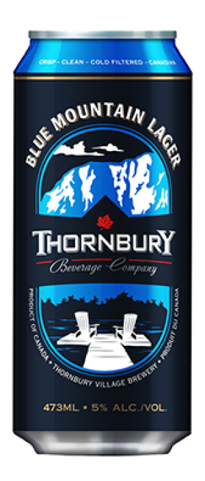 Blue Mountain Lager by Thornbury Village Cidery & Brewery in Ontario, Canada