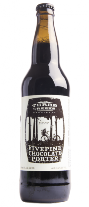 FivePine Chocolate Porter by Three Creeks Brewing Company in Oregon, United States