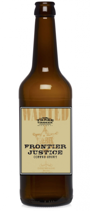 Frontier Justice Coffee Stout by Three Creeks Brewing Company in Oregon, United States