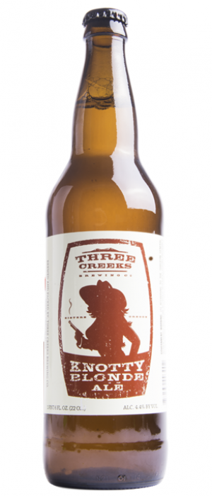 Knotty Blonde Ale by Three Creeks Brewing Company in Oregon, United States
