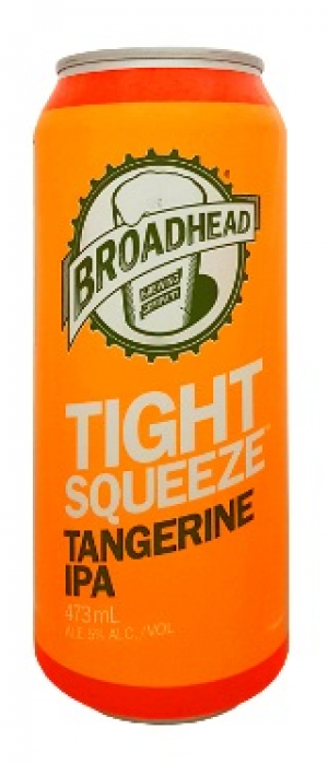 Tight Squeeze Tangerine IPA by Broadhead Brewing Company in Ontario, Canada