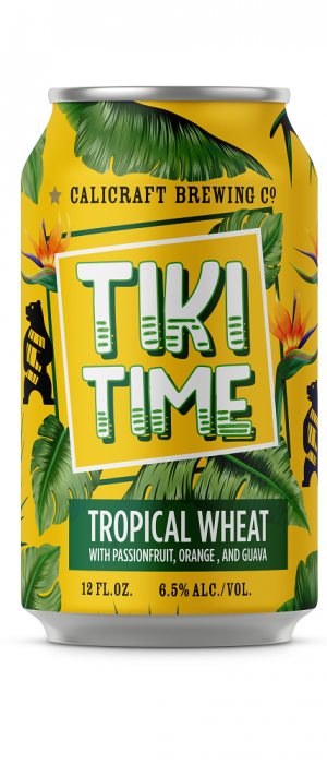 Tiki Time Tropical Wheat by Calicraft Brewing Co. in California, United States