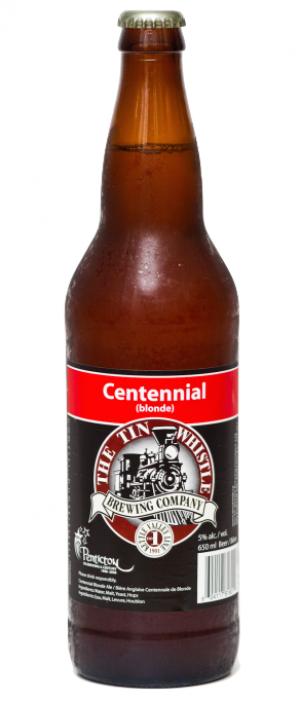 Centennial Blonde by Tin Whistle Brewing Company in British Columbia, Canada