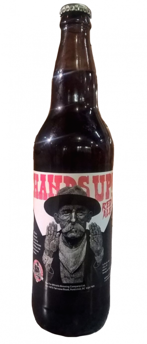 Hands Up Red Ale by Tin Whistle Brewing Company in British Columbia, Canada
