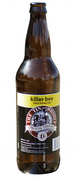 Killer Bee Dark Honey Ale by Tin Whistle Brewing Company in British Columbia, Canada