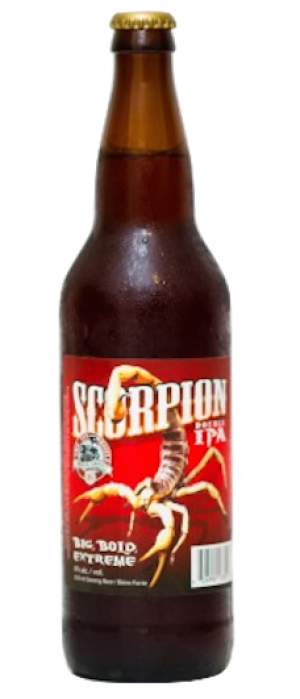 Scorpion Double IPA by Tin Whistle Brewing Company in British Columbia, Canada
