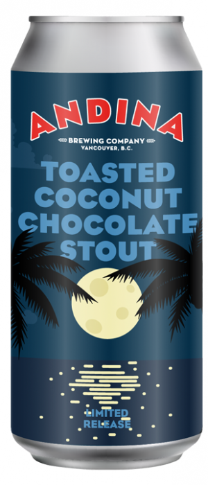 Toasted Coconut Chocolate Stout by Andina Brewing Company in British Columbia, Canada