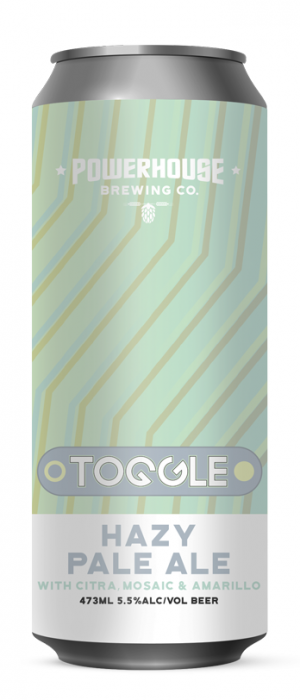 Toggle Hazy Pale Ale by Powerhouse Brewing Company in Ontario, Canada