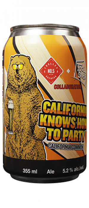 California Knows How To Party by Tool Shed Brewing Company in Alberta, Canada