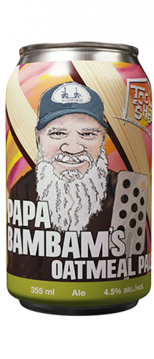 Papa Bam Bam's Oatmeal Pale Ale by Tool Shed Brewing Company in Alberta, Canada